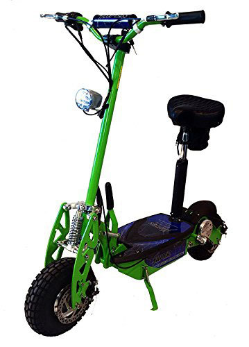 Electric Scooter Neon Green 1000Watts with a seat and bag for tool