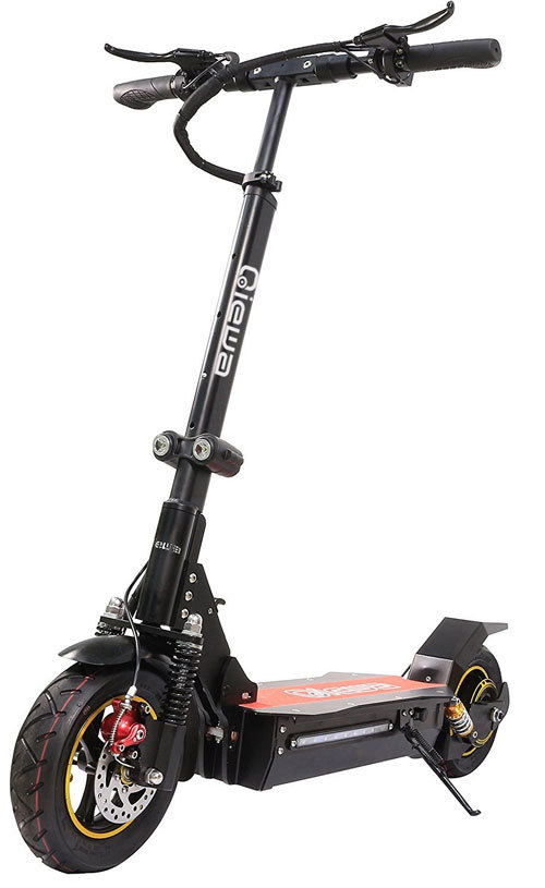 One serious off-road electric scooter (QIEWA Hummer 800 Watts)