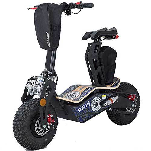 MotoTech Mad 1600 Watts electric scooter with bags for tools