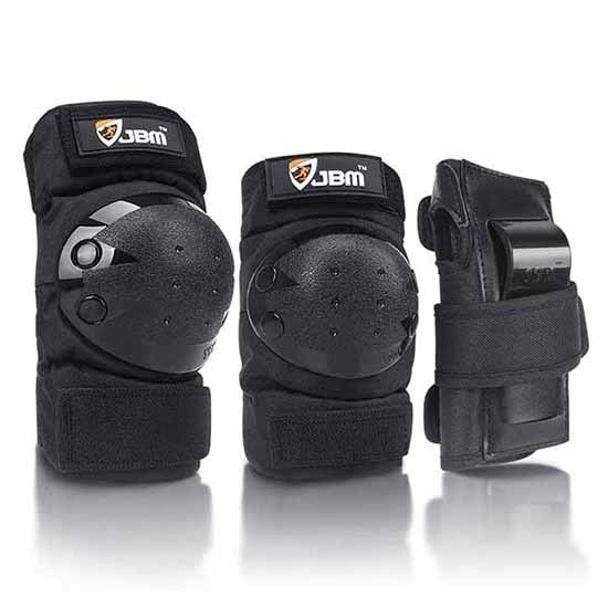 Knee and elbow protection for electric scooter riders