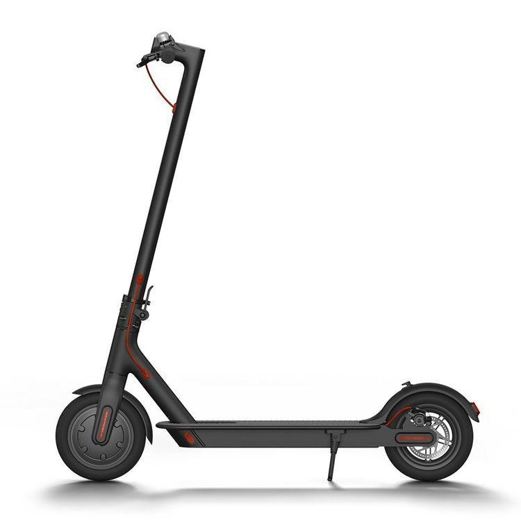 black electric scooter from the side - mijia m365