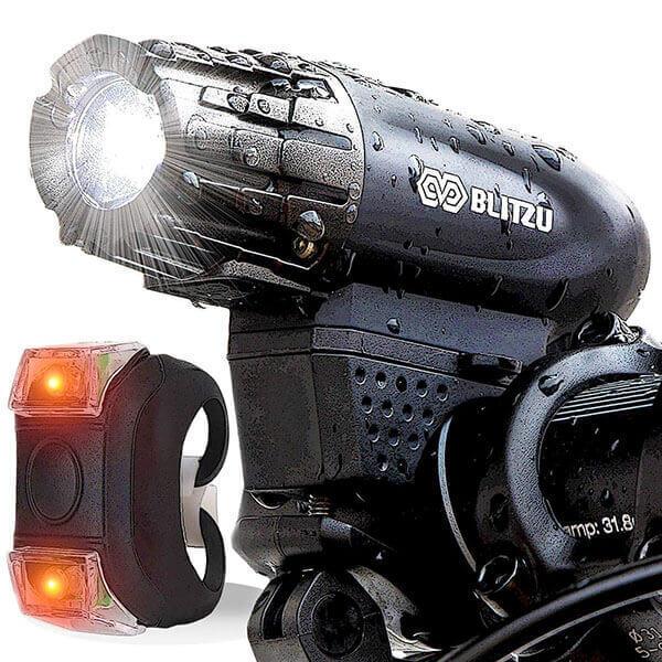 Image of BLITZU Gator 320 USB Rechargeable Bike Light on white background