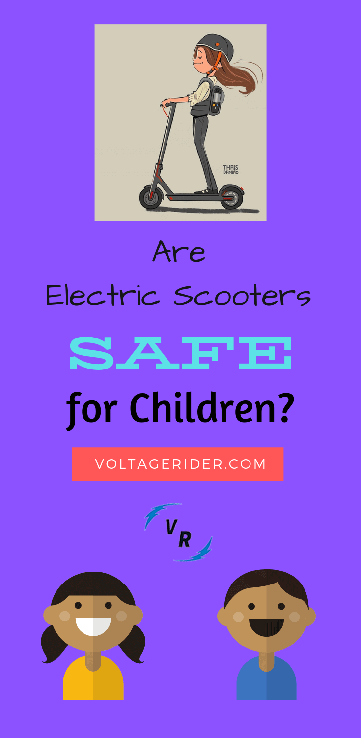 Infographics about children safety on electric scooter