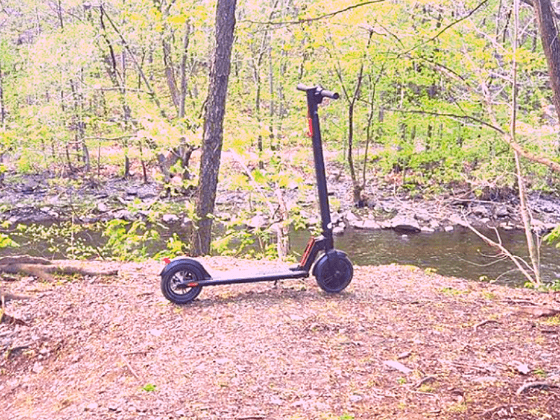 Electric scooter in nature