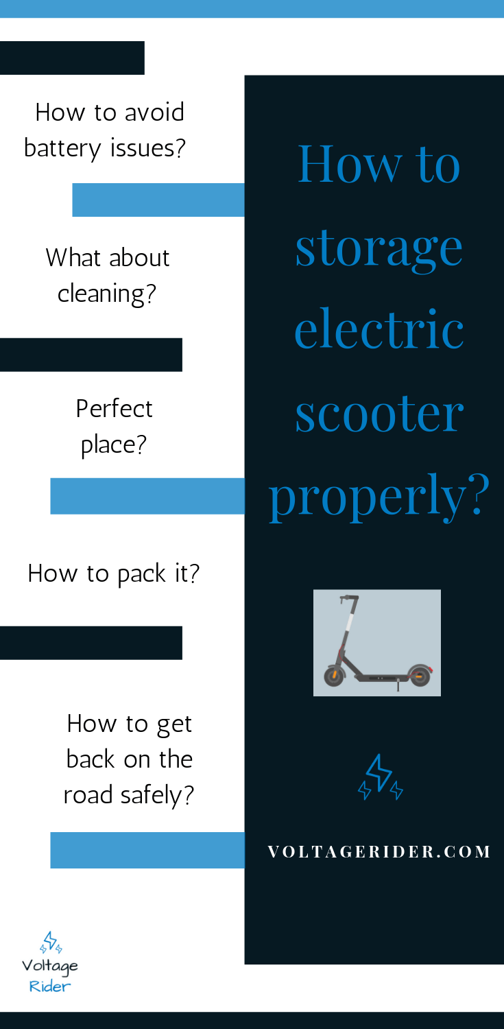 Everything you need to know about storing electric scooter
