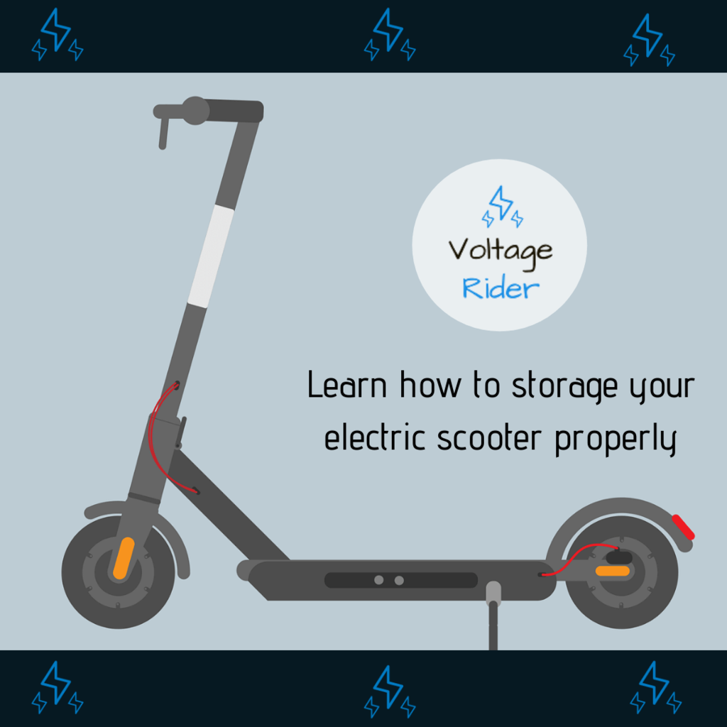 Learn how to storage electric scooter