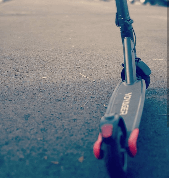 Voyager electric scooter on the road