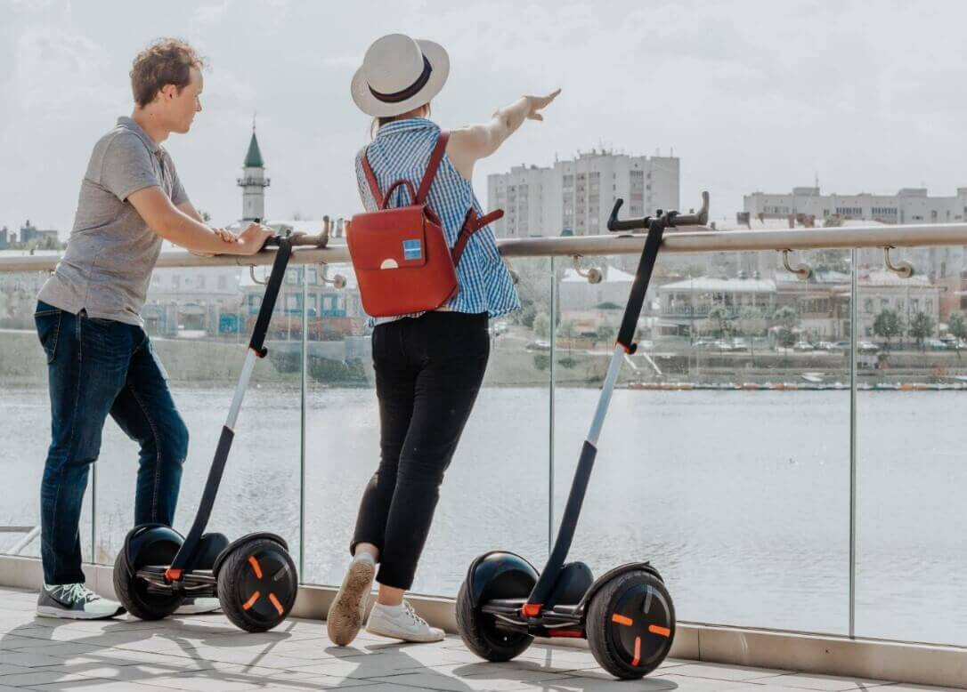 Different types of electric scooters segway