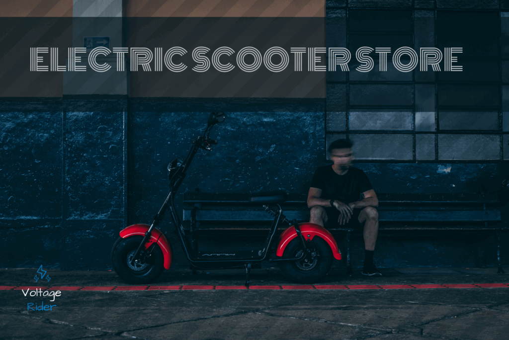 Red Electric Scooter parked