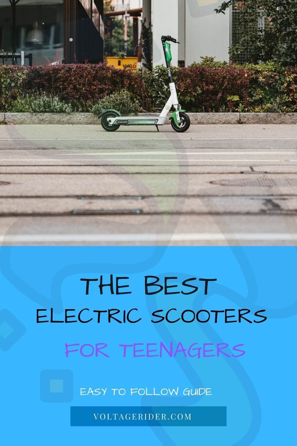 There is a renting electric scooter - image pinterest voltage rider