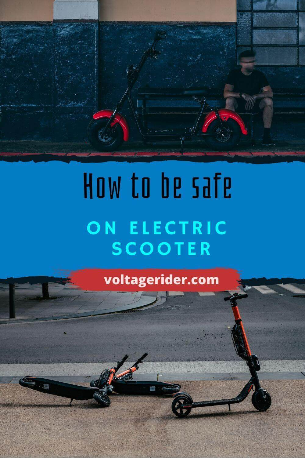 Pin about electric scooter safety from Voltage Rider pinterest account