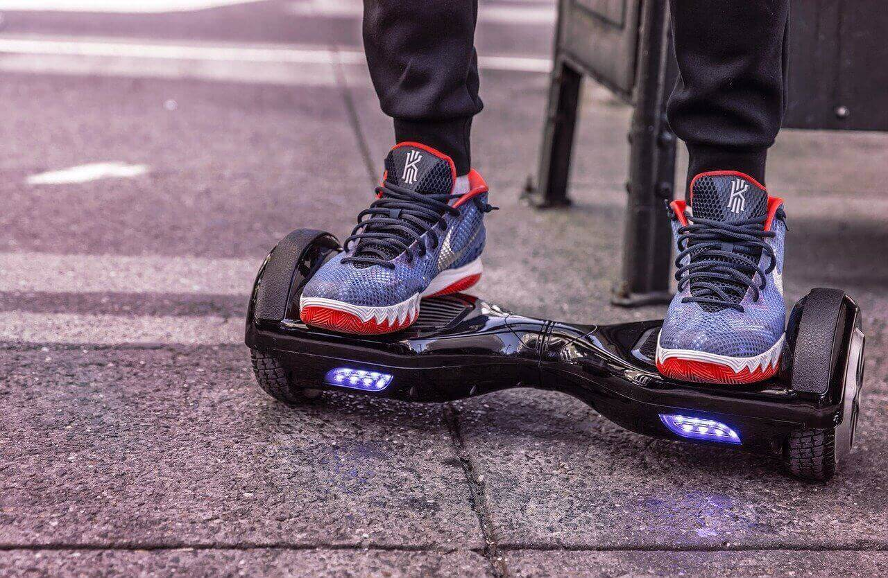 Hoverboard types of electric scooters perfect for having fun