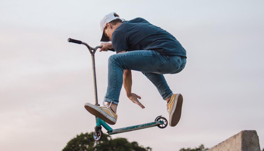 Kick scooter stunts