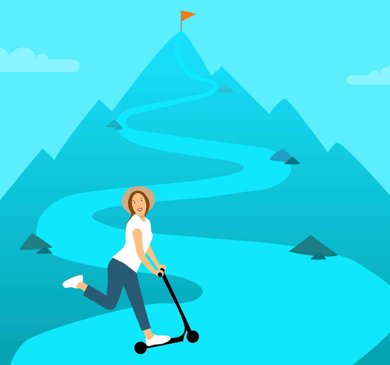 Best razor scooters uphill struggle cartoon