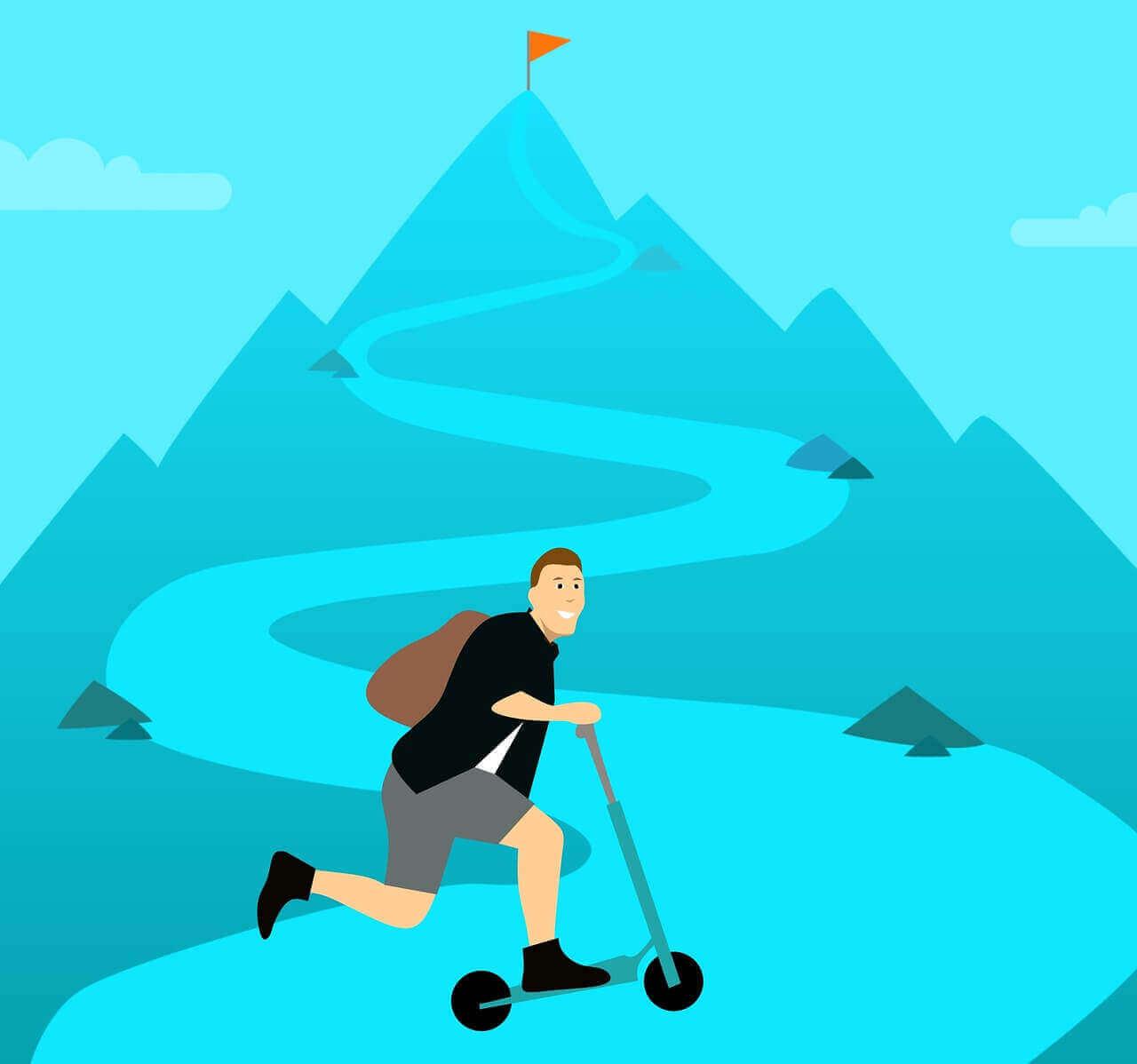 Best razor scooters uphill problems cartoon