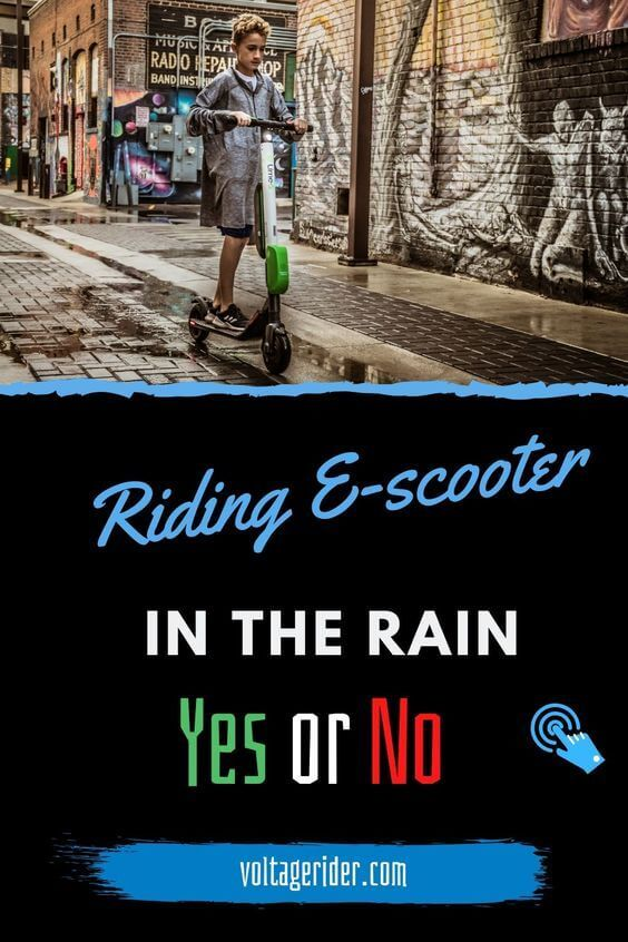Tips on how to ride electric scooter in rain
