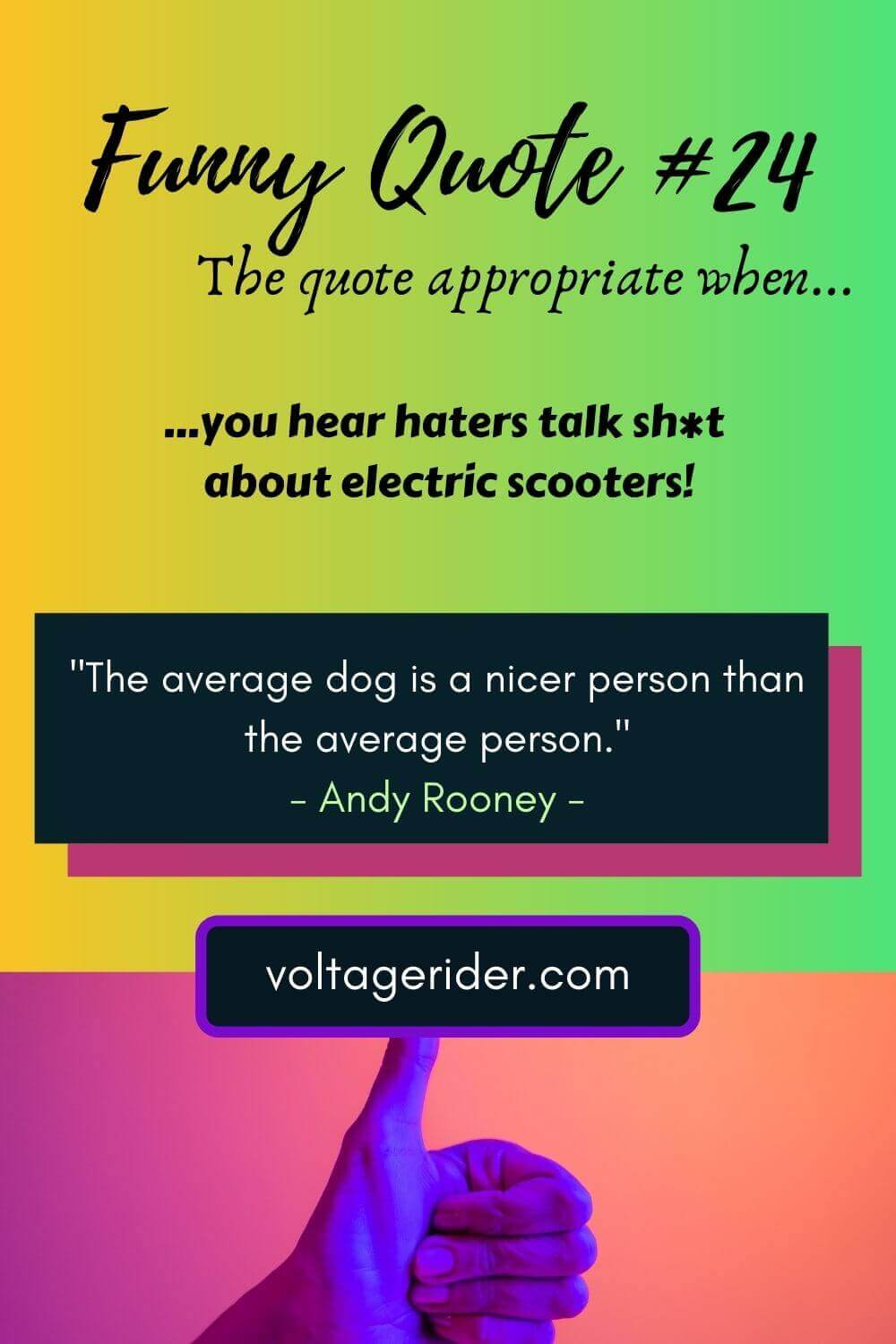 Voltage Rider Pinterest Image - Electric Scooter quotes