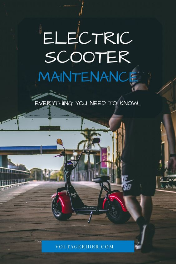 Electric scooter maintenance tips pinterest image