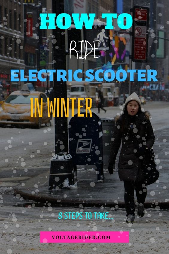 Snow time electric scooter