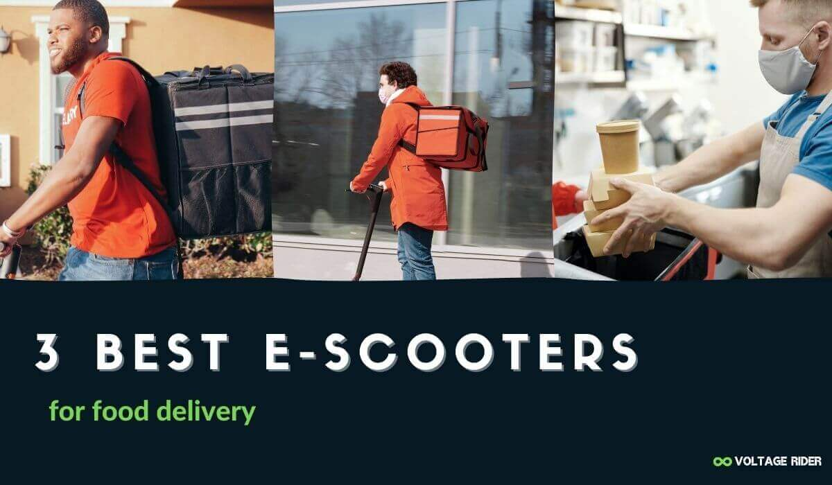 Find best electric scooters for food delivery job