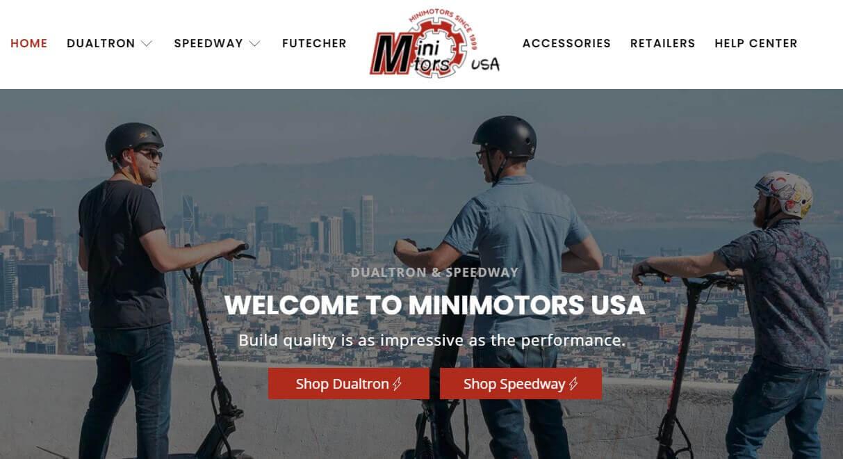 Minimotors usa website look