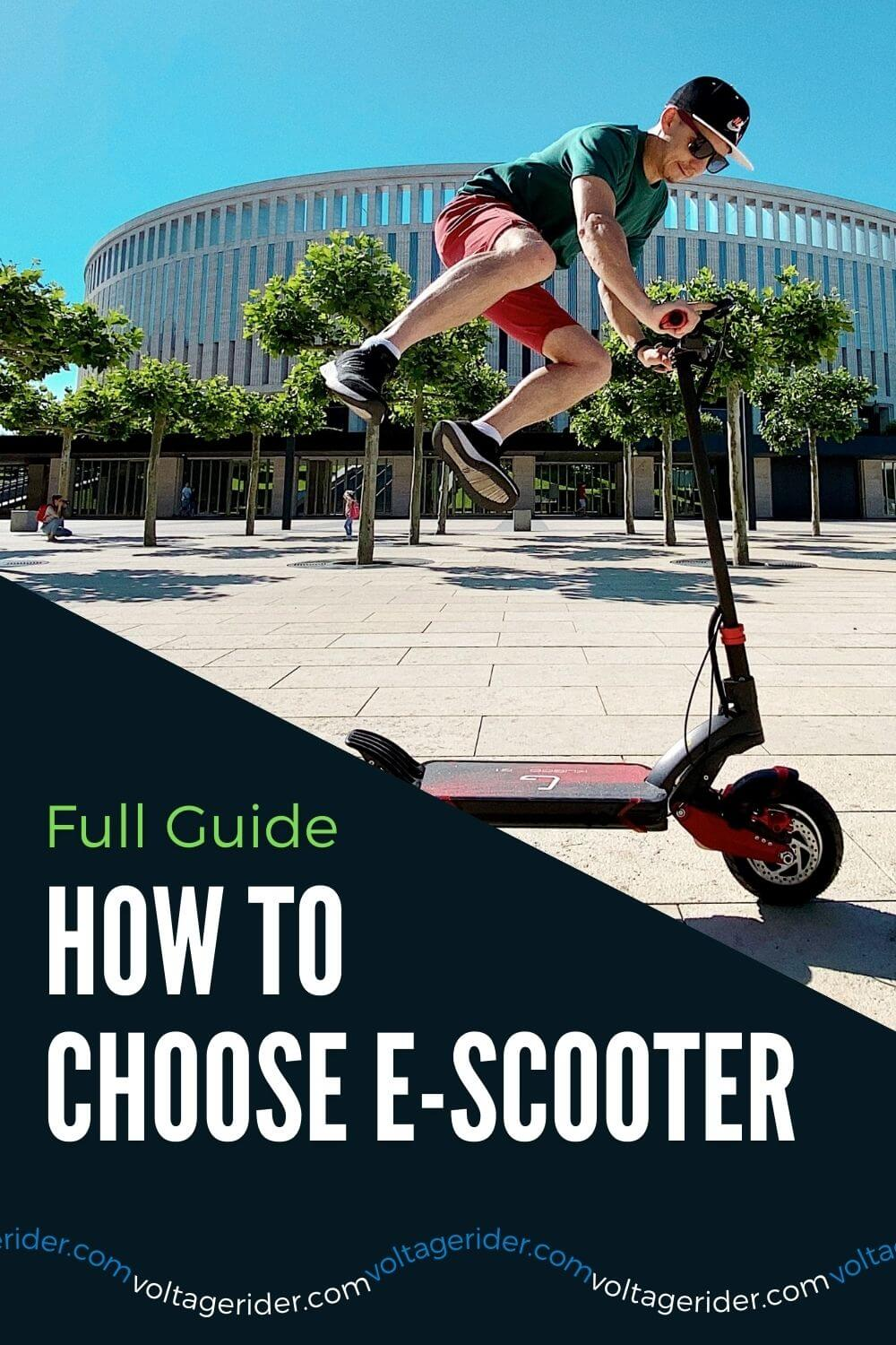 Riding and choosing the right electric scooter