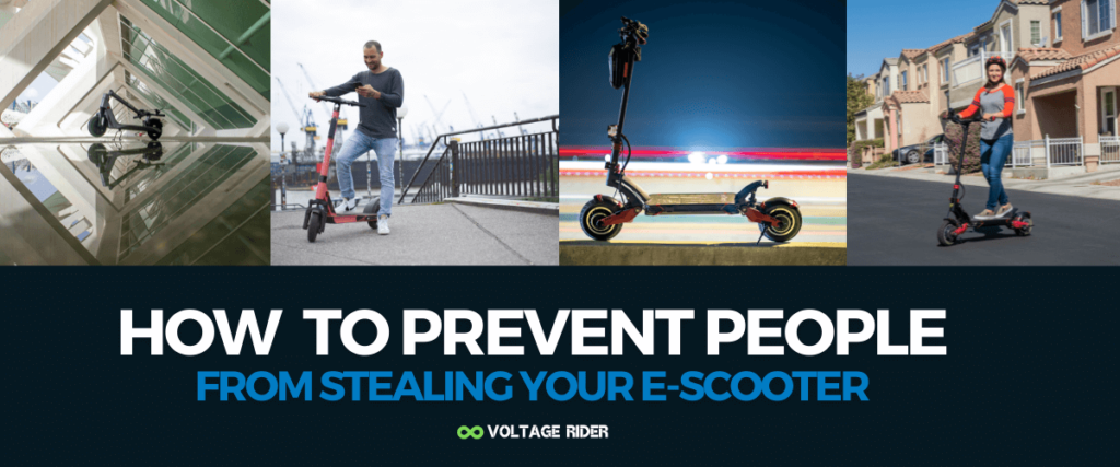 How to prevent people from stealing your electric scooter tips
